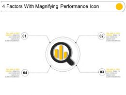 4 Factors With Magnifying Performance Icon