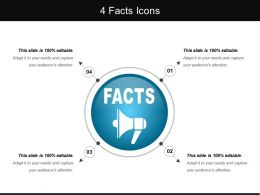 4 Facts Icons Sample Of Ppt