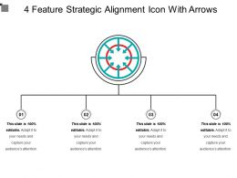 4 Feature Strategic Alignment Icon With Arrows