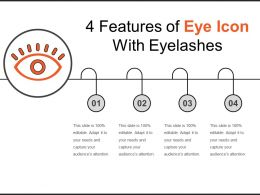4 Features Of Eye Icon With Eyelashes