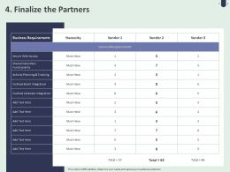 4 Finalize The Partners Ppt Powerpoint Presentation Slides Grid