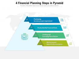 4 Financial Planning Steps In Pyramid