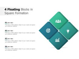 4 Floating Blocks In Square Formation