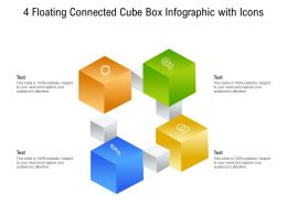 4 Floating Connected Cube Box Infographic With Icons