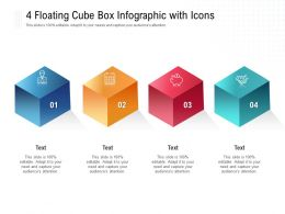 4 Floating Cube Box Infographic With Icons