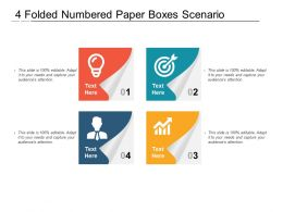 4 Folded Numbered Paper Boxes Scenario