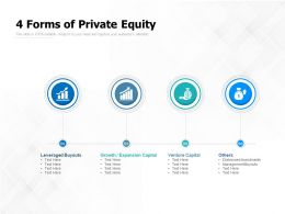 4 Forms Of Private Equity