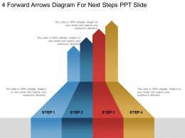 4 Forward Arrows Diagram For Next Steps Ppt Slide
