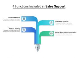4 Functions Included In Sales Support