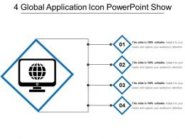 4 Global Application Icon Powerpoint Show
