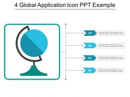 4 Global Application Icon Ppt Example