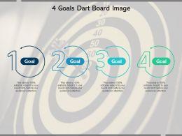 4 Goals Dart Board Image
