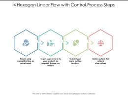 4 Hexagon Linear Flow With Control Process Steps