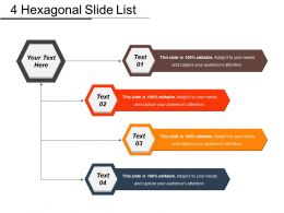 4 Hexagonal Slide List Example Of Ppt