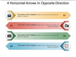 4 Horizontal Arrows In Opposite Direction