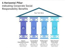 4 Horizontal Pillar Indicating Corporate Social Responsibility Benefits