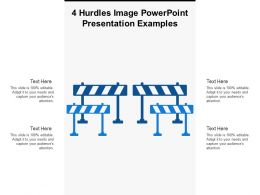 4 Hurdles Image Powerpoint Presentation Examples