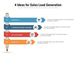 4 Ideas For Sales Lead Generation