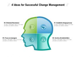 4 Ideas For Successful Change Management