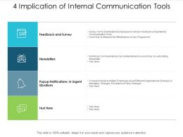 4 Implication Of Internal Communication Tools
