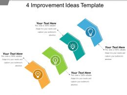 4 Improvement Ideas Template Good Ppt Example
