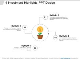 4 Investment Highlights Ppt Design