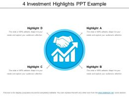 4 Investment Highlights Ppt Example