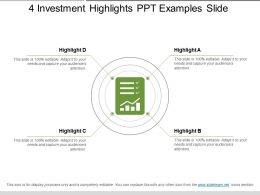 4 Investment Highlights Ppt Examples Slide