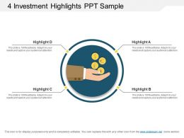 4 Investment Highlights Ppt Sample