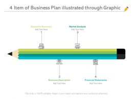 4 Item Of Business Plan Illustrated Through Graphic