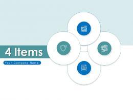 4 Items Business Elements Finances Management Service Product Marketing