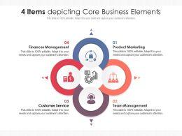 4 Items Depicting Core Business Elements