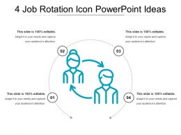4 Job Rotation Icon Powerpoint Ideas
