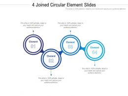 4 Joined Circular Element Slides