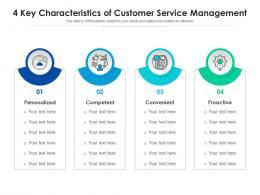 4 Key Characteristics Of Customer Service Management