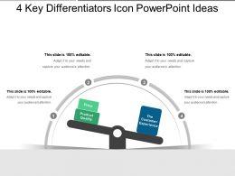 4 Key Differentiators Icon Powerpoint Ideas