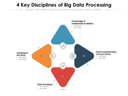 4 Key Disciplines Of Big Data Processing