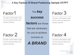 4 Key Factors Of Brand Positioning Sample Of Ppt
