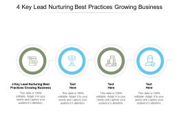 4 Key Lead Nurturing Best Practices Growing Business Ppt Powerpoint Presentation Infographics Brochure Cpb