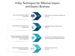 4 Key Techniques For Effective Import And Export Business