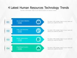 4 Latest Human Resources Technology Trends