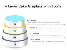 4 Layer Cake Graphics With Icons