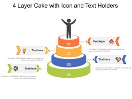 4 Layer Cake With Icon And Text Holders