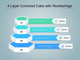 4 Layer Cornered Cake With Numberings