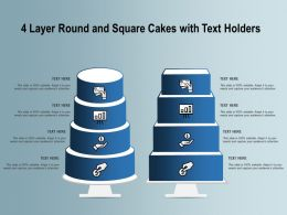 4 Layer Round And Square Cakes With Text Holders