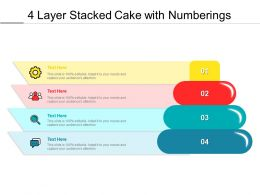 4 Layer Stacked Cake With Numberings