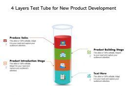 4 Layers Test Tube For New Product Development