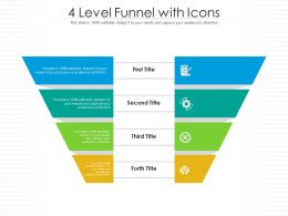 4 Level Funnel With Icons