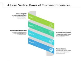 4 Level Vertical Boxes Of Customer Experience