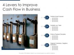 4 Levers To Improve Cash Flow In Business